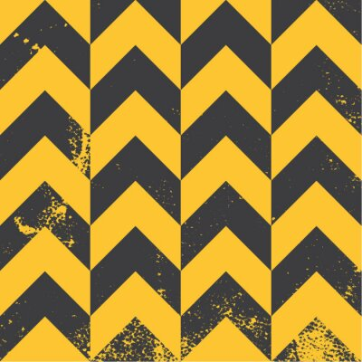 Image yellow chevron pattern with distressed texture