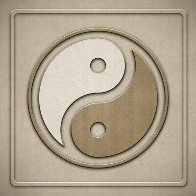 Image Yin Yang - Papier - gaufrage