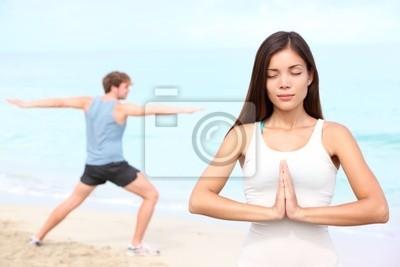 Yoga couple méditation