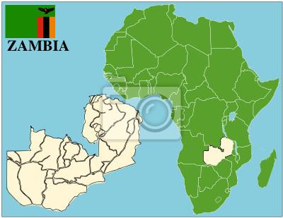 Carte Afrique Zambie.Image Zambie Embleme Carte Afrique Monde La Reussite Des Entreprises