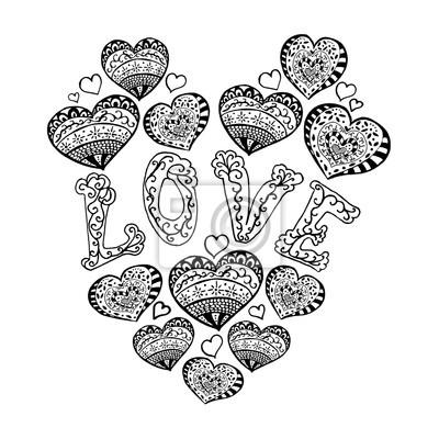 Idees De Fait Main Dessin De Main Avec Un Coeur
