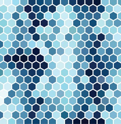 hexagonal motif bleu papier peint papiers peints pixellisation pixel hexagonale. Black Bedroom Furniture Sets. Home Design Ideas