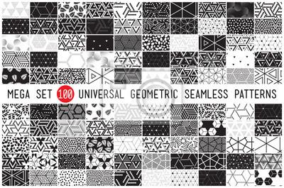 Papiers peints 100 universel différents motifs géométriques sans soudure