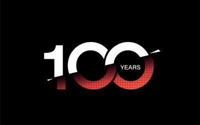 Papiers peints 100th Years Anniversary Celebration Vector Design.