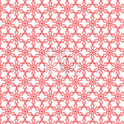 2017 Bonne année. Motif de Noël, ornement. Nouvel An chinois du Coq rouge. Illustration vectorielle.