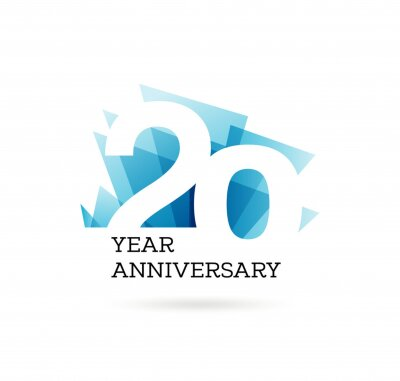 Papiers peints 20th years anniversary label for celebration of company