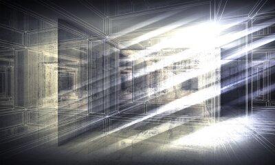 Papiers peints 3 d arrière-plan, perspective vue fil métallique