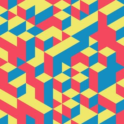 Papiers peints 3d abstrait géométrique fond coloré.