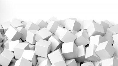 Papiers peints 3D, blanc, cubes, pile, isolé, blanc, copie-space