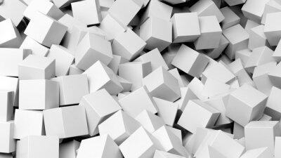 Papiers peints 3D, blanc, cubes, pile, résumé, fond