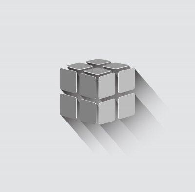 Papiers peints 3D cube icon