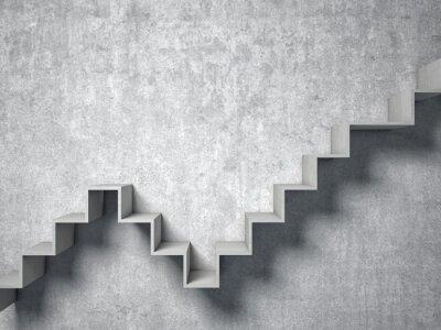 Papiers peints 3d escalier abstrait
