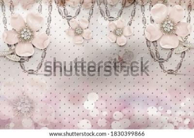 Papiers peints 3d flower wallpaper 3d background- Illustration