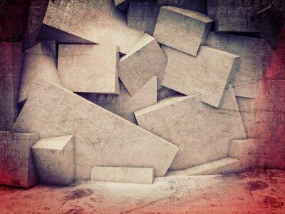Papiers peints 3D, géométrique, mur