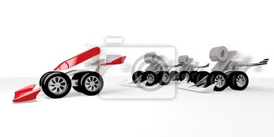 3d graphique d'un crayon signe rapide dans une course de sport automobile