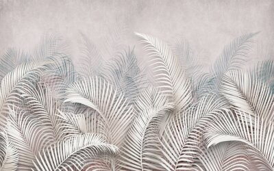 Papiers peints 3d picture of palm leaves on the background