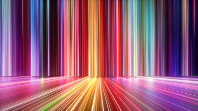 Papiers peints 3d render, abstract background with colorful spectrum. Bright neon rays and glowing lines.