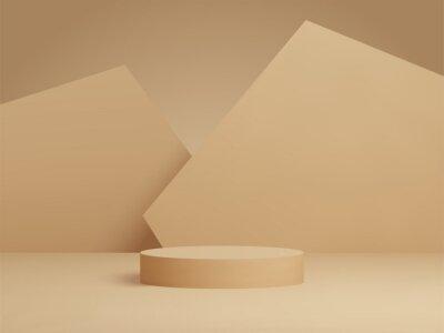 Papiers peints 3D rendered podium for your product showcase. Vector 3d illustration.