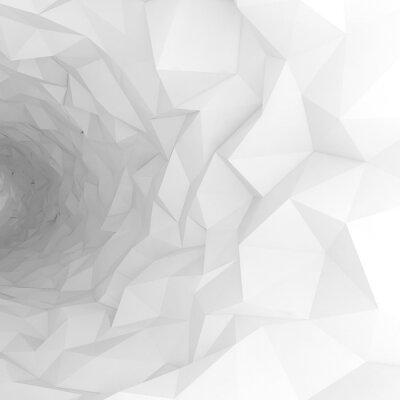 Papiers peints 3D, tunnel, chaotique, polygonal, surface