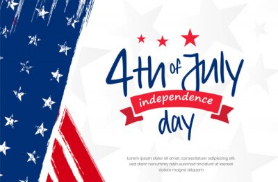 Papiers peints 4th of July, USA, United States of America independence day celebration design on grunge American vintage flag background use for sale banner, discount banner, advertisement banner, social media etc.