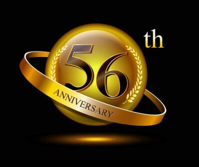 Papiers peints 56 years birthday celebration logotype. 56th anniversary logo