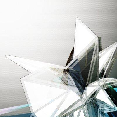 Papiers peints Abstract 3D cristal vecteur de fond