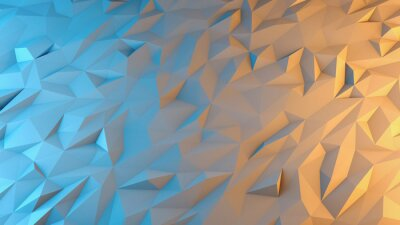 Papiers peints abstract 3d render background. Techno triangular low poly background