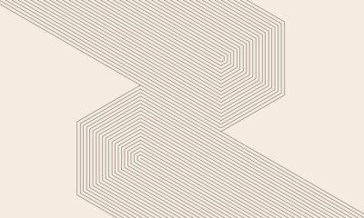 Papiers peints abstract art lines background. monochrome stripes
