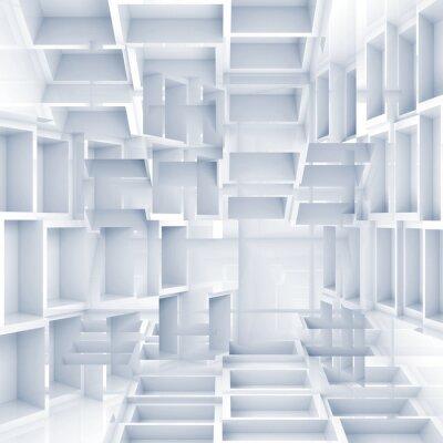 Papiers peints Abstract background 3d numérique avec des cubes blancs chaotiques