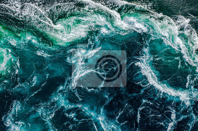Papiers peints Abstract background. Waves of water of the river and the sea meet each other during high tide and low tide. Whirlpools of the maelstrom of Saltstraumen, Nordland, Norway
