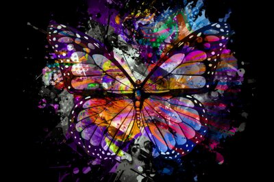 Papiers peints abstract background with butterfly