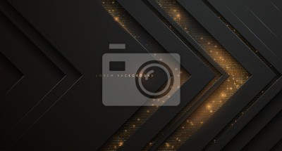 Papiers peints Abstract black and gold background