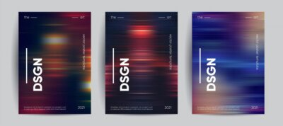 Papiers peints Abstract covers with Motion gradient. Blurred colors vector background.
