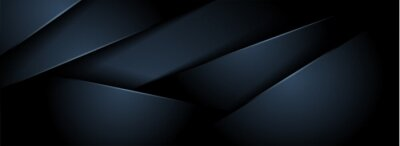Papiers peints Abstract Dark Navy Background with Minimal Shape And Overlap Textured Layer.