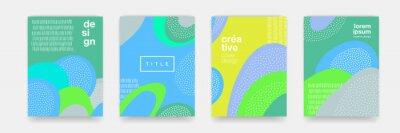 Papiers peints Abstract fun texture de dessin animé pour le modèle dot pour doodle fond géométrique. Forme de tendance vecteur vert, bleu, jaune pour la conception de modèle de couverture brochure