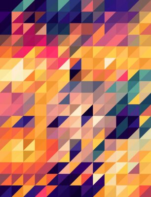 Papiers peints Abstract golden and blue triangles background