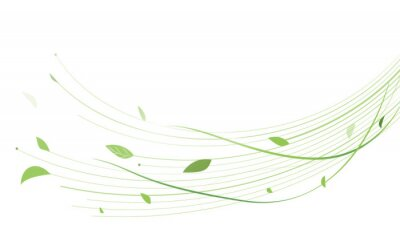 Papiers peints Abstract green lines floral vector background. Vector illustration