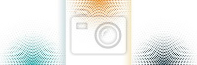 Papiers peints abstract halftone white background set in three colors