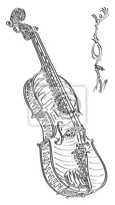 Dessin De Violon abstract illustration vectorielle dessin de violon. papier peint