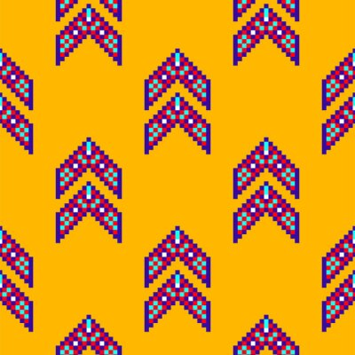 Abstract Mexican ethnic seamless pattern, tribal background. Bright vector tribal texture with geometric shapes.