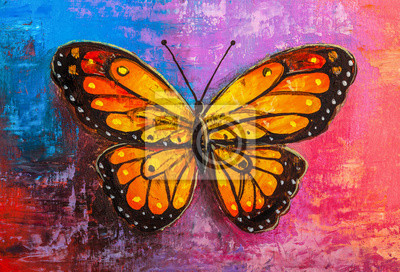 Papiers peints abstract painting butterfly