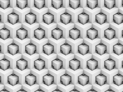 Papiers peints Abstract polygonal 3D seamless pattern - geometric box structure background