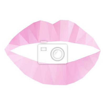 Abstract polygonal lips