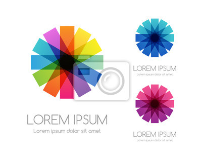 Papiers peints Abstract rainbow color logo. Colorful vector emblem.