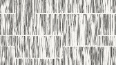 Papiers peints Abstract seamless pattern, vertical line art ink drawing in black on light grey