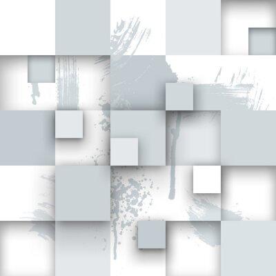 Papiers peints Abstract Texture avec des carrés et des éclaboussures de peinture.