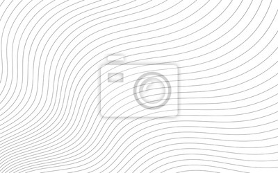 Papiers peints Abstract wavy background. Thin line on white.