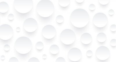 Papiers peints Abstract white background with 3D circles pattern, interesting white gray vector background illustration.