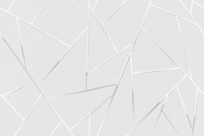 Papiers peints Abstract white chrome lines background