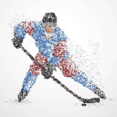 Papiers peints Abstraction, hockey, glace, rondelle